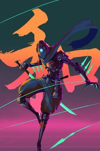 1440x2560 Cyber Ninja Variant Retro