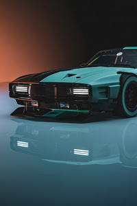 1125x2436 Cyber Shelby 4k