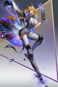 480x854 Cyber Suit Girl 4k