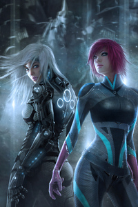 1440x2960 Cyber Two Girl