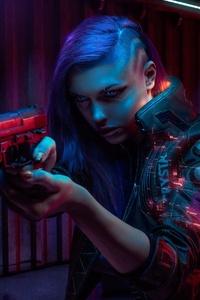 Cyberpuk Women Digital Art