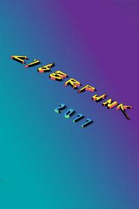 320x568 Cyberpunk 2077 3d Logo 4k