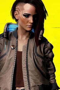 640x960 Cyberpunk 2077 4k Girl