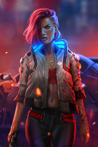 240x320 Cyberpunk 2077 4k New Illustration