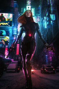 360x640 Cyberpunk 2077 Black Widow
