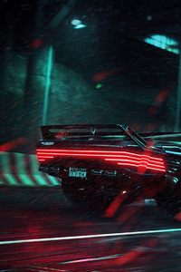 640x1136 Cyberpunk 2077 Car Game