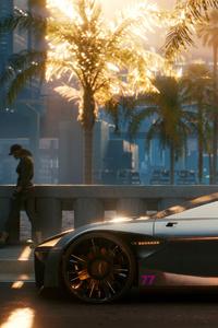 640x960 Cyberpunk 2077 Cars Futuristic 4k