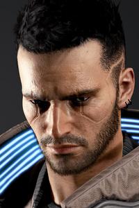 750x1334 Cyberpunk 2077 Character 4k