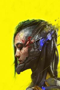 640x960 Cyberpunk 2077 Colored Band 4k