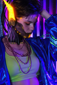 800x1280 Cyberpunk 2077 Cosplay Girl 4k