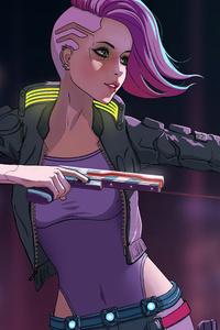2160x3840 Cyberpunk 2077 Cyber Girl 8k