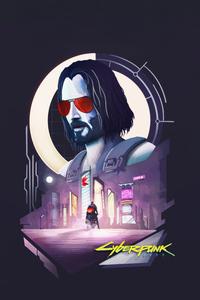 2160x3840 Cyberpunk 2077 Ft Keanu Reeves Minimal 4k