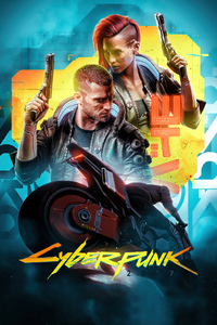 Cyberpunk 2077 Futuristic Poster 4k