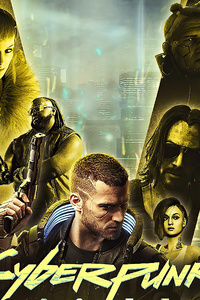 1242x2688 Cyberpunk 2077 Game 2020 Poster
