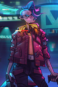540x960 Cyberpunk 2077 Game Illustration 5k