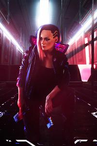 640x1136 Cyberpunk 2077 Gameart 4k