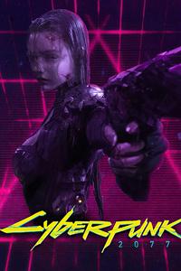 800x1280 Cyberpunk 2077 Girl 4k 2021