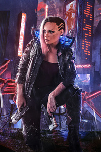 800x1280 Cyberpunk 2077 Girl 4k