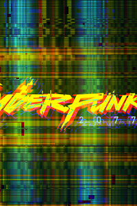 Cyberpunk 2077 Glitch Logo 4k
