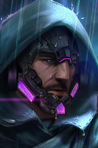 240x320 Cyberpunk 2077 Guy