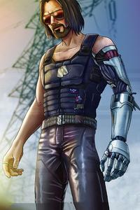 1242x2688 Cyberpunk 2077 Johnny Silverhand 2020