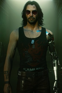 1440x2560 Cyberpunk 2077 Johnny Silverhand 4k Game 2021