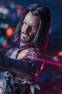 Cyberpunk 2077 Johnny Silverhand Cosplay 4k
