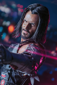 640x1136 Cyberpunk 2077 Johnny Silverhand Cosplay