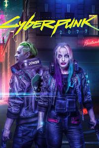 1080x2280 Cyberpunk 2077 Joker X Harley Quinn 5k