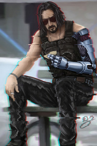480x800 Cyberpunk 2077 Keanu Reeves 4k 2020