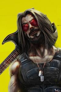 480x800 Cyberpunk 2077 Keanu Reeves Art