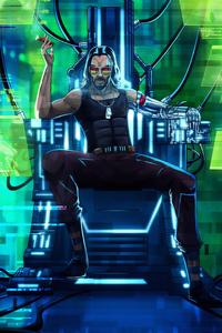 320x480 Cyberpunk 2077 Keanu Reeves