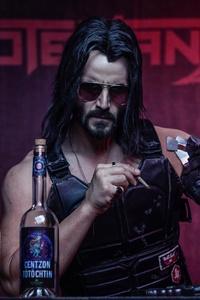 480x800 Cyberpunk 2077 Keanu Reeves4k