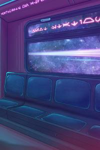 360x640 Cyberpunk 2077 Metro Train 4k