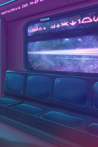 Cyberpunk 2077 Metro Train 4k