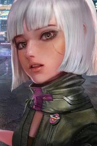 Cyberpunk 2077 Selfie Girl With Biker 4k