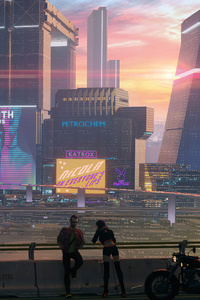 Cyberpunk 2077 Sunset Over Night City
