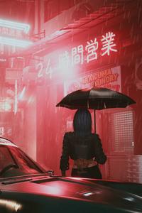 Cyberpunk 2077 Umbrella Girl