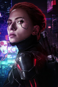 240x320 CYBERPUNK 2077 X AVENGERS BLACK WIDOW