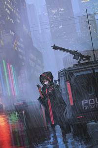Cyberpunk Anime Girl 5k