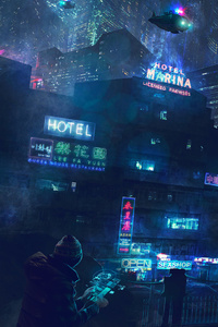800x1280 Cyberpunk Artwork