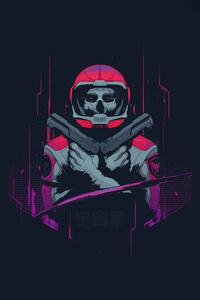 Cyberpunk Astronaut Minimal 4k