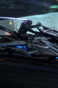 Cyberpunk Bike Scifi Art