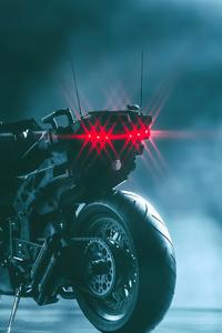 Cyberpunk Bike With Man 4k