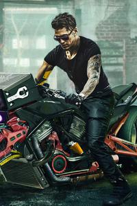 1125x2436 Cyberpunk Biker