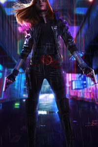 Cyberpunk Black Widow 4k