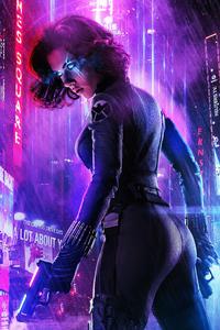 1080x2280 Cyberpunk Black Widow