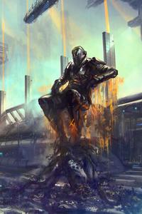 320x480 Cyberpunk Boss 4k