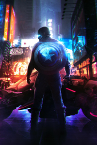 Cyberpunk Captain America