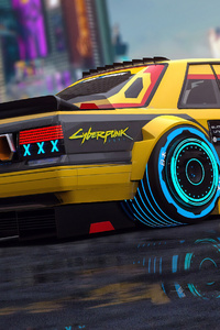 Cyberpunk Car Art 4k